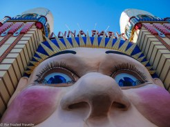 A close up of the Luna Park Sydney Entrance