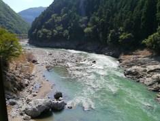 The river near Arashiyama, Kyoto
