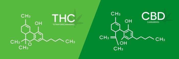 THC and CBD formula