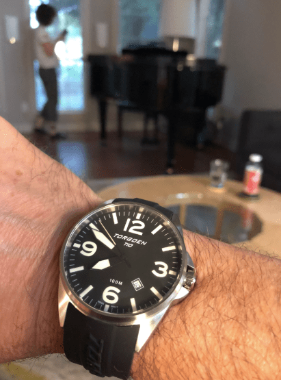 Torgoen T10 at home (courtesy thetruthaboutwatches.com)