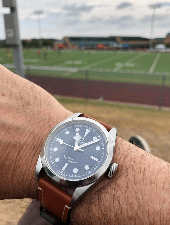 The Tudor Black Bay takes to the field