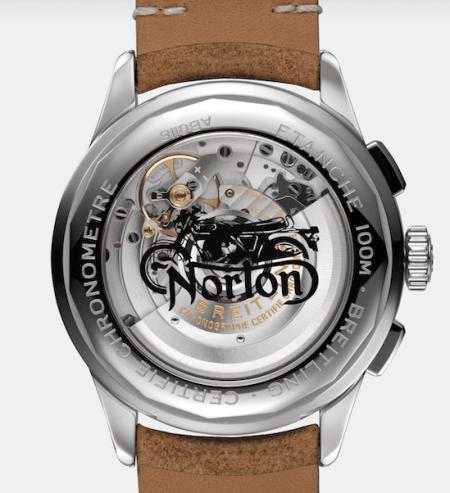 Breitling Premier Norton creative caseback
