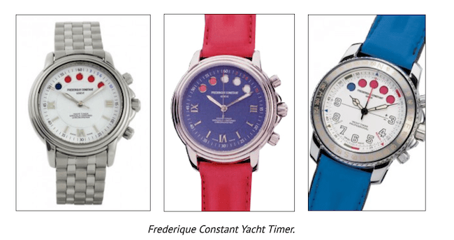 Old Frederique Constantin Yacht Timers