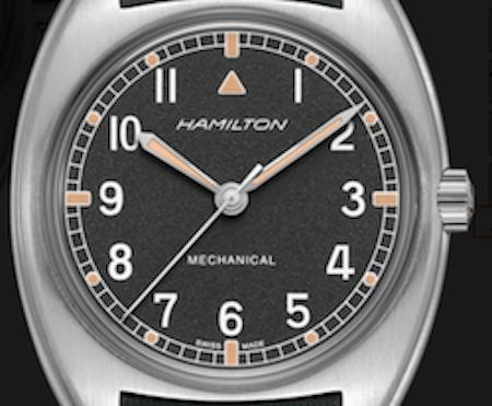 Hamilton Khaki Pilot Pioneer Mechanical textured dial
