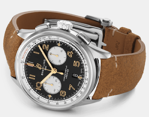 The Breitling Norton at rest, hiding its motorcycle branding