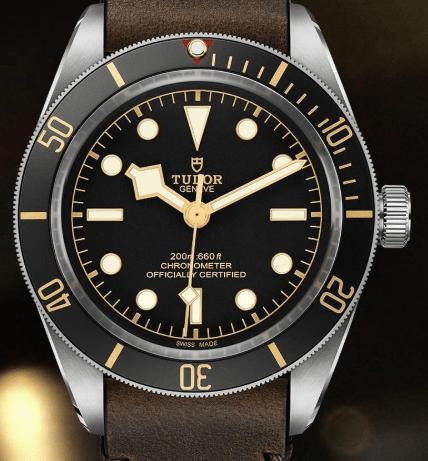 Close-up Tudor Black Bay 58 dial