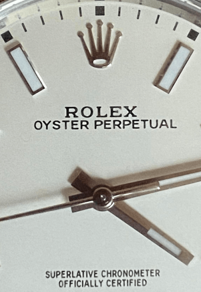 Rolex Oyster Perpetual 39 close-up (courtesy thetruthaboutwatches.com)