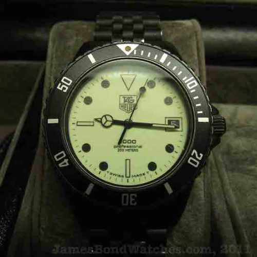 Tag Heuer Night Dive PVD watch (courtesy jamesbondwacthesblog.com)