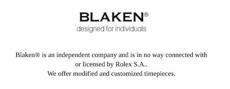 Blaken disclaimer