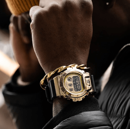 G-SHOCK GM6900G-9on wrist