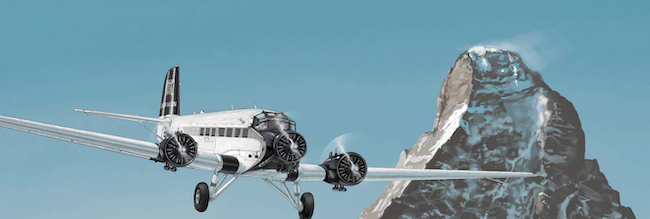 JU-52 and Mont Blanc (of all things)