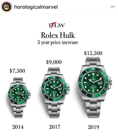 Rolex shortage leads to higher prices