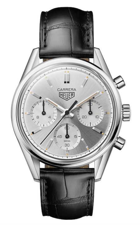 TAG Heuer Carrera 160 Years Silver Limited Edition on leather strap