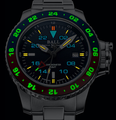 Ball Engineer Hydrocarbon AeroGMT II USA Edition - this one lights up our New Watch Alert