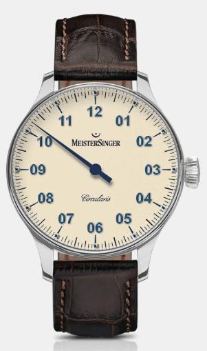 MeisterSinger Circularis one hand watch