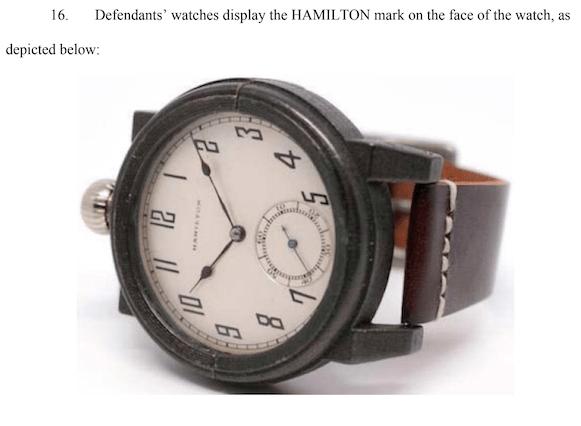 Vortic vs. Hamilton complaint image