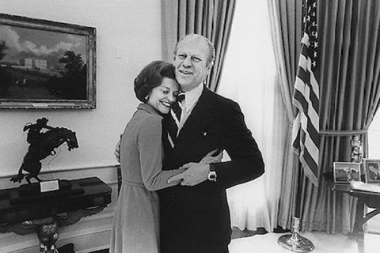 Gerald Ford wearing Pulsar watch