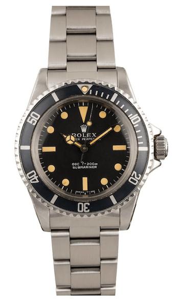 1973 Rolex Submariner (courtesy bobswatches.com)