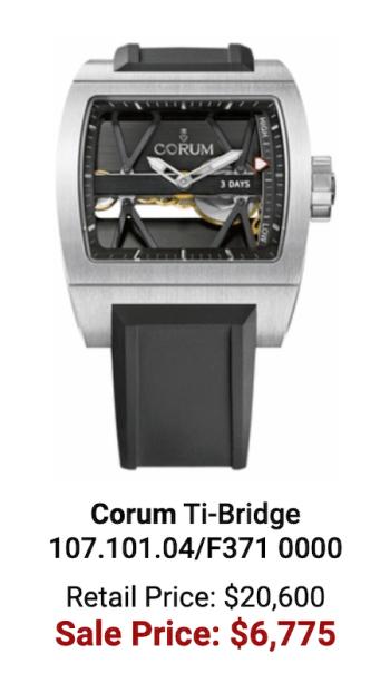 Bigger loser - the Corum Ti-Bridge