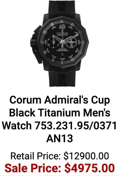 Corum Admiral's Cup Black Titanium