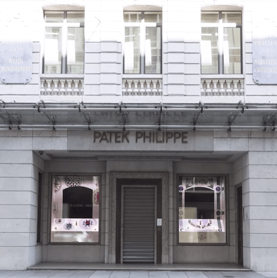 Patek Philippe - Geneva watch dealers closed (courtesy thewatch.tv)