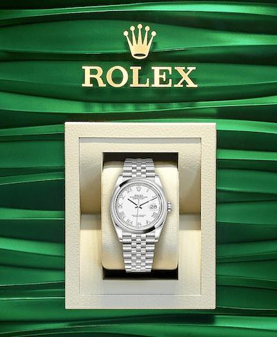 Rolex Datejust in case