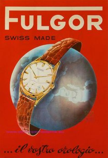 Vintage watch ad