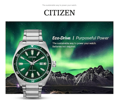 Earth Day watch ad