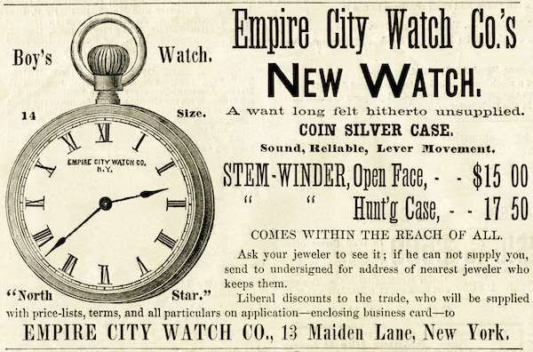 Empire City Watch Ad - new watches!