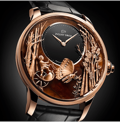 Jaquet Droz Eternal Loving Butterfly Automaton Chinchilla Red LE