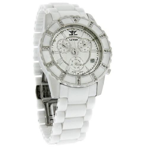 Joe Exotic's wristwatch - a LeVian Diamond White Ceramic Day/Date