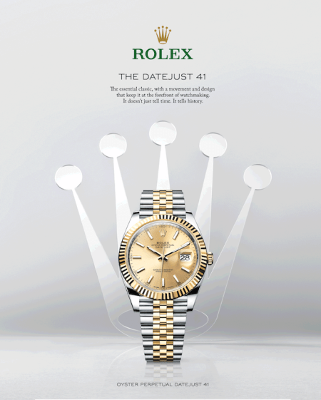 Rolex's success - ad for Daytona
