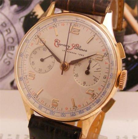 Vintage Cuervo Y Sobrinos chronograph