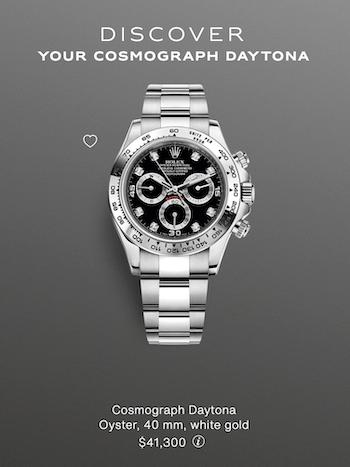 White gold Rolex Daytona list price