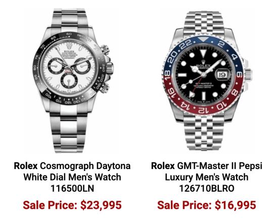 Authentic Watches price crash?