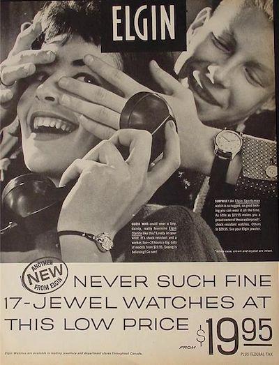 Elgin watch ad