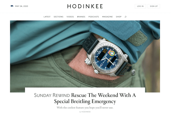 Reading Hodinkee - going in is a real watch enthusiasts' mistakes