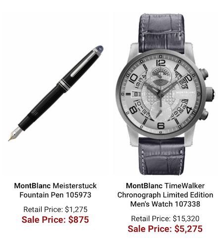 MontBlanc Watch Special Offers