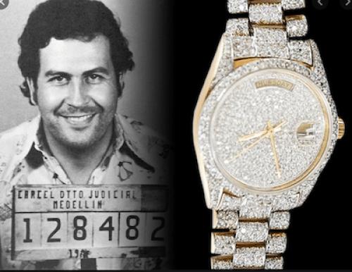 Pablo Escobar - so many Rolex criminals so much money