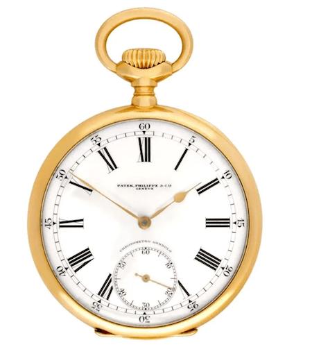 Collect pocket watches - Patek Philippe 18k Chronometro Gondolo