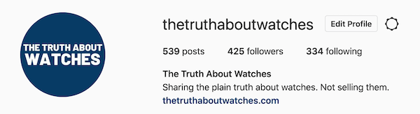 The Truth About Watches on Instagram