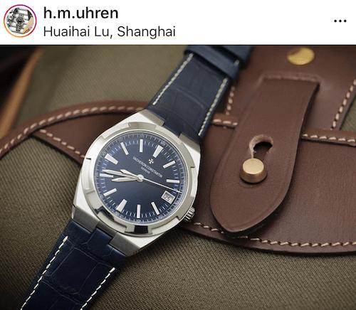 Vacheron Constantin Overseas on leather