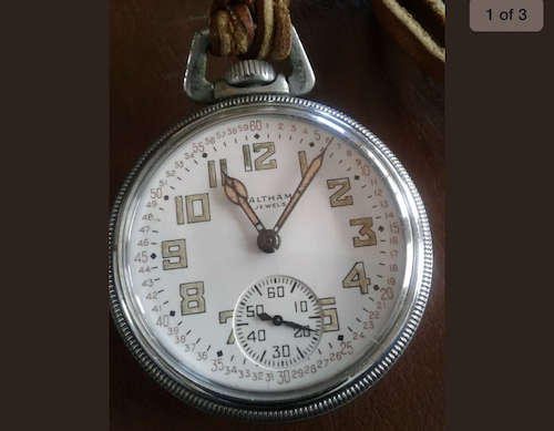 Waltham military Pocket Watch