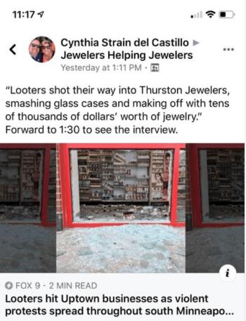 Watch store looting in Minneapolis