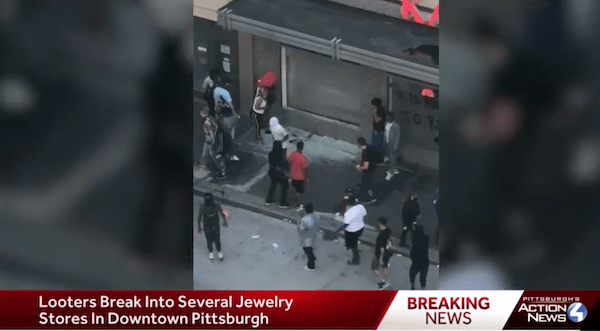 Jewelry store looting in Pittsburgh