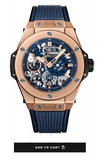 Big Bang 45mm Meca-10 Power Reserve 10 Days King Gold Blue - watch news