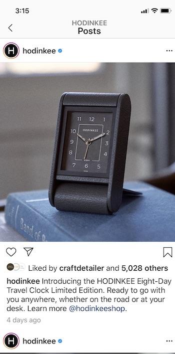 Hodinkee main Instagram
