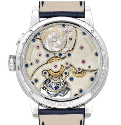 An extremely expensive watch: Jaeger-leCoultre Master Grande Tradition Gyrotourbillon 3 Set caseback