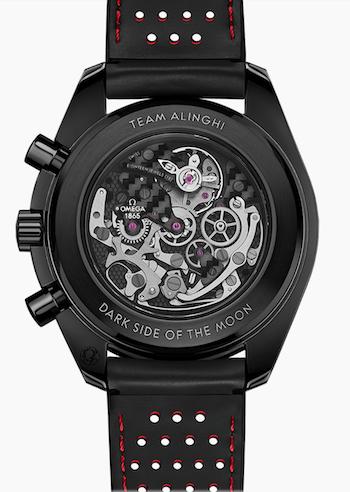 OMEGA Speedmaster Moonwatch Team Alinghi caseback