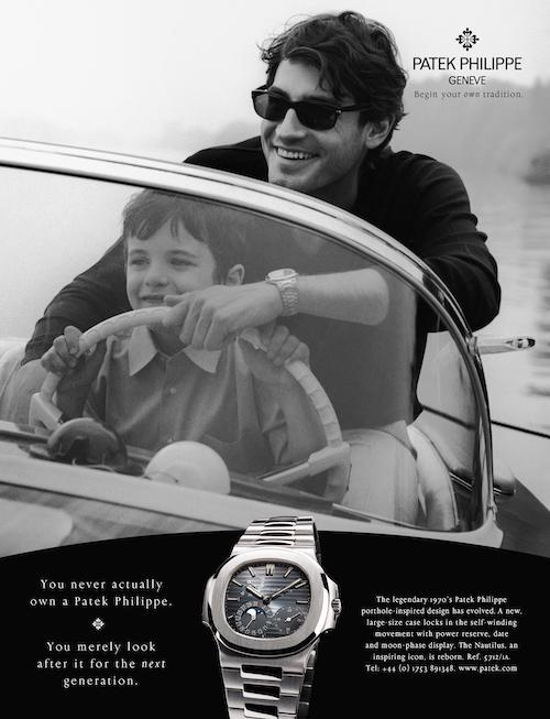 Patek ad for luxury watches